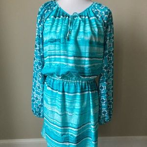 NWT Michael by Michael Kors turquoise dress